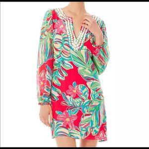 NWT Lilly Pulitzer Saemus Jungle Pomegranate Dress